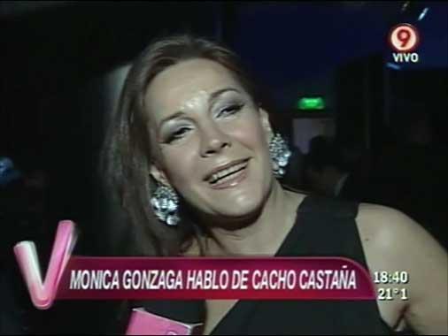 Mónica Gonzaga admitió el acercamiento con Cacho Castaña