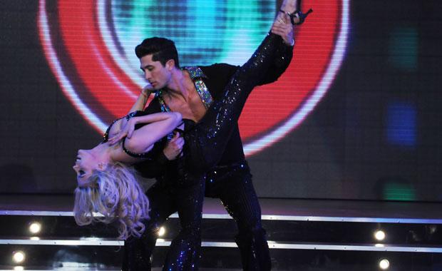 Virginia Gallardo volvió a Bailando al ritmo de la música disco