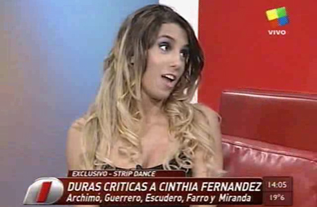 Cinthia Fernández responde a las críticas por su polémico strip dance