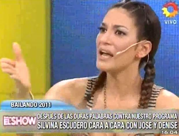 Silvina Escudero, enojadísima con Este es el show