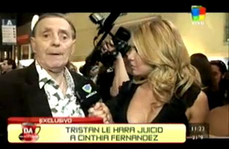 Tristán habló de su juicio a Cinthia Fernández