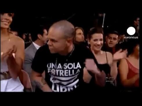 Soledad Fandiño, de novia con René Pérez de Calle 13