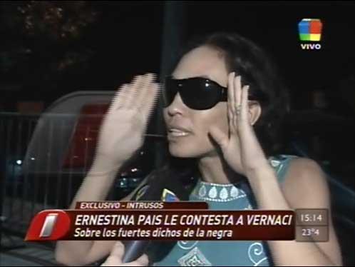 Ernestina Pais le contestó a Elizabeth Vernaci