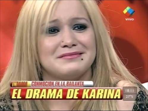 Karina explicó su problema en la voz