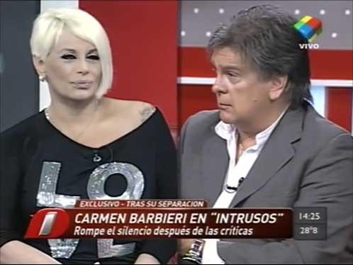 Carmen Barbieri volvió a Intrusos y se cruzó con Luis Ventura otra vez