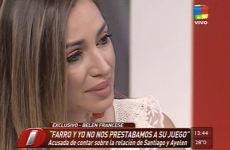 Belén Francese se defendió de las acusaciones de Santiago Bal