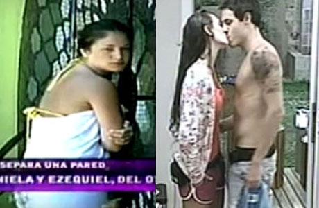 Ezequiel y Daniela de Gran Hermano a los besos