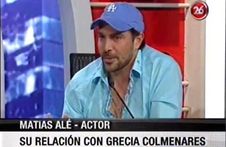 Matías Alé habló de su relación con Grecia Colmenares