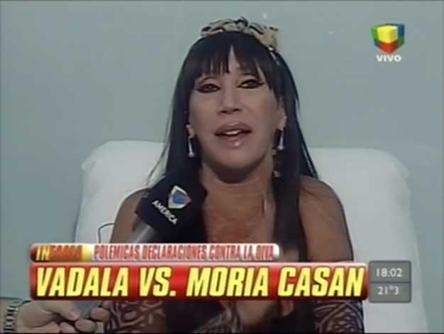 Moria Casán le respondió a Luis Vadalá