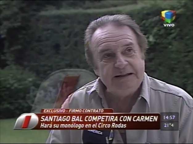 Santiago Bal le hace la competencia a Carmen Barbieri: ¡Hará un monólogo en un circo!
