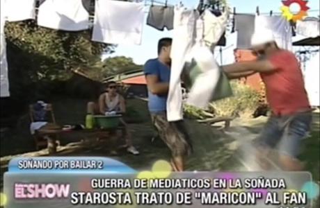 El baldazo de agua del fan de Wanda Nara a Joaquín Starosta: mirá el video