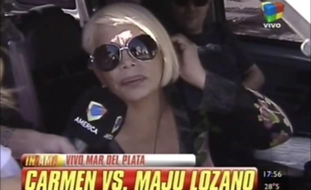 Increíble: Carmen Barbieri le pidió disculpas a Maju Lozano… ¡y abandonó otro móvil!
