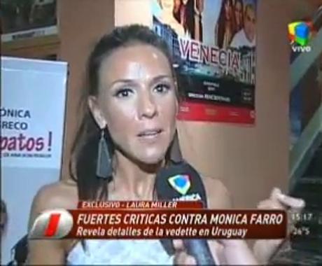 "Pelea impensada: Laura Miller llamó ""cabaretera"" a Mónica Farro"