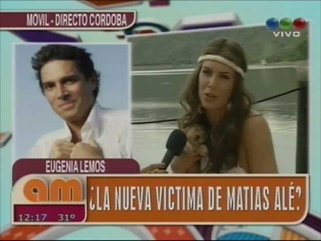 Matías Alé quiere conquistar a Eugenia Lemos y ella le respondió en la tele
