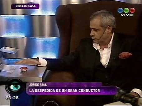 Jorge Rial apretó el botón rojo y abandonó Gran Hermano 2012