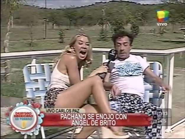 El blooper de Aníbal Pachano que hizo sonrojar a Dallys Ferreira