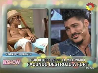 Ricardo Fort insiste en que tuvo sexo con Facundo del Soñando 2
