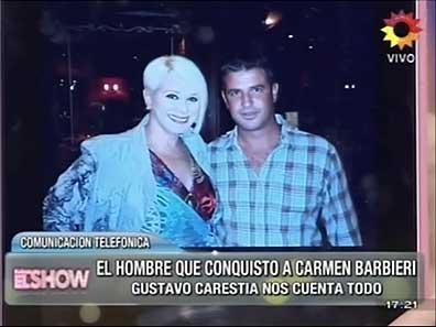 Carmen Barbieri presentó a su pretendiente en vivo