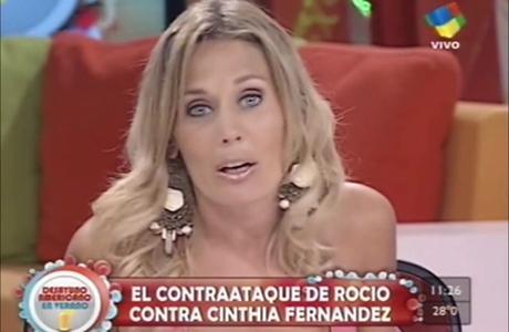 El contraataque de Rocío contra Cinthia Fernández