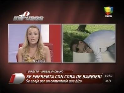 Escándalo: Anibal Pachano discutió fuerte con Cora Debarbieri