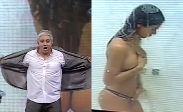Gran Hermano 2012: Noelia se duchó en vivo… ¡y Peluffo casi se infarta!