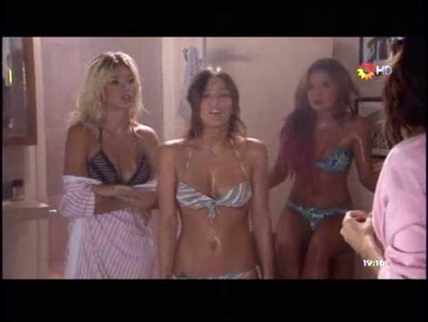 Escena infartante: todas las diosas de Los Unicos, en bikini