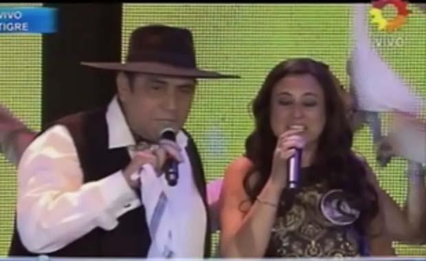 El Chaqueño Palavecino se subió al escenario de Soñando por cantar 2012