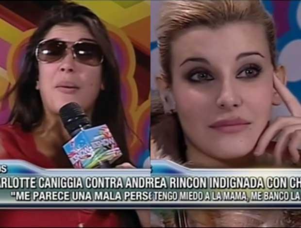 Andrea Rincón cruzó duro a  Charlotte Caniggia en Este es el show