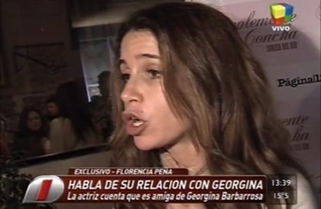 Florencia Peña habló del supuesto conflicto de dinero con Georgina Barbarrosa