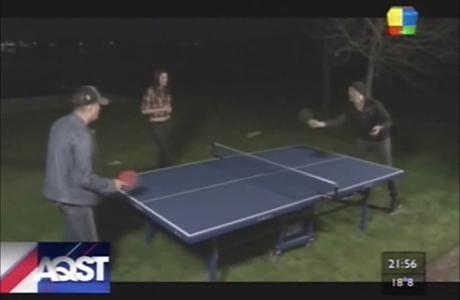 El Pelado López desafió a Michael Bublé a un partido de ping-pong