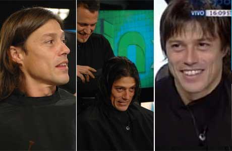 Matías Almeyda se cortó el pelo en vivo, tras su promesa y el ascenso de River