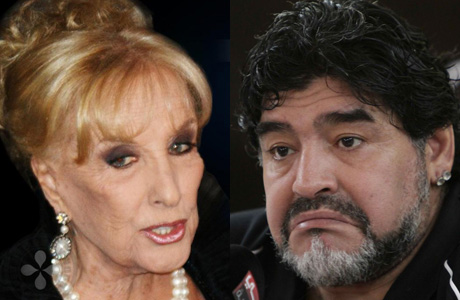 Diego Maradona le pegó con mucha dureza a Mirtha Legrand
