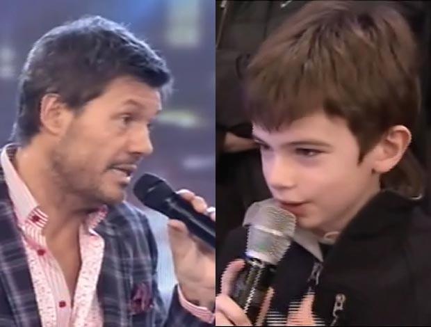 Insólito: El nene que se rebeló ante Marcelo Tinelli en Bailando 2012