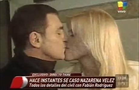 "Nazarena Vélez se casó con Fabián Rodríguez: ""Lo elegí para siempre"""