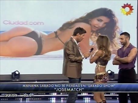 María Vázquez eligió el podio de las mejores colas de Bailando 2012