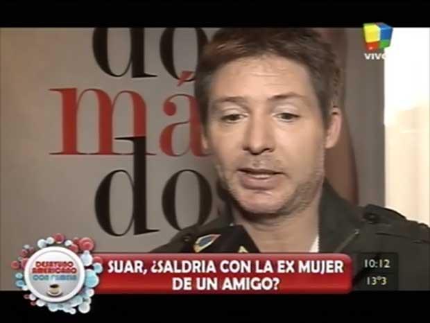 Adrián Suar habló del romance Tinelli-Valdés y del enojo de Sebastián Ortega