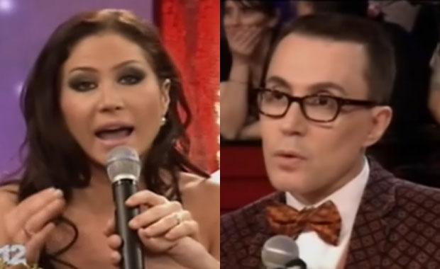 Fuerte cruce de Adabel Guerrero y Marcelo Polino en Cantando 2012