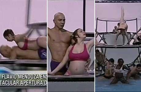 Adelanto: la apertura del Aquadance con Gisela Bernal embarazada y Flavio Mendoza