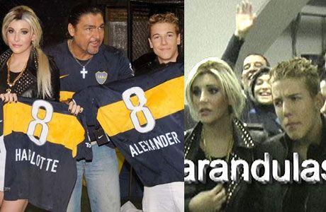Escandalete con Charlotte y Alexander Caniggia en la Bombonera: se fueron ofendidos