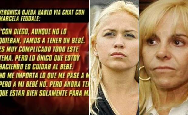 """Verónica Ojeda, sobre la orden de restricción a Claudia Villafañe: """"No entiende que estoy embarazada y que el bebé es de Diego"""""""