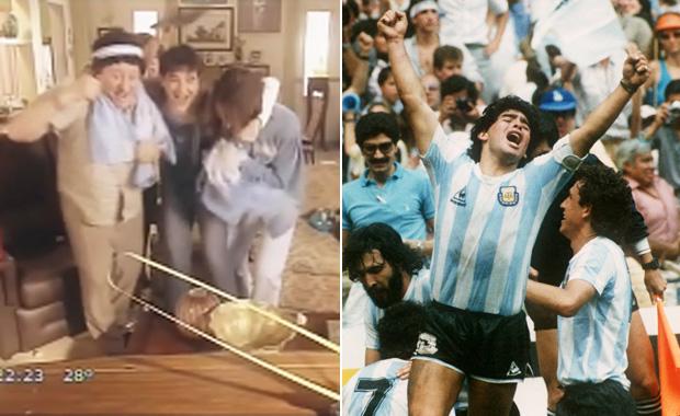 El homenaje a Maradona en Graduados: recordaron el gol del Mundial 86'