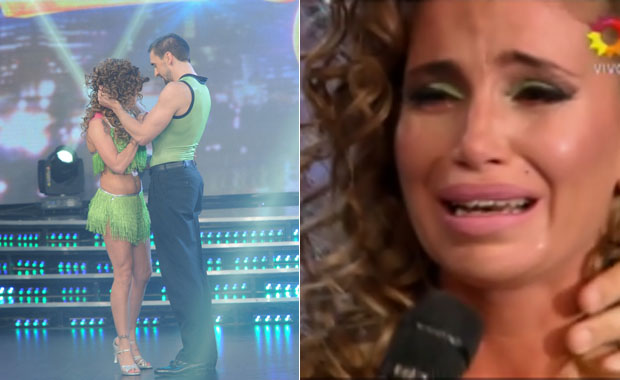 Florencia Peña se equivocó en la salsa acrobática y abandonó la coreografía