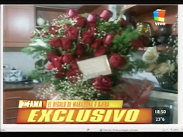 El obsequio y la tarjeta de Diego Maradona a Verónica Ojeda para Navidad