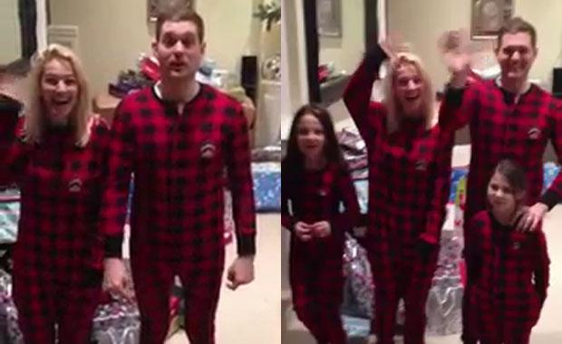 Luisana Lopilato y Michael Bublé: imperdible saludo navideño… ¡en pijamas!