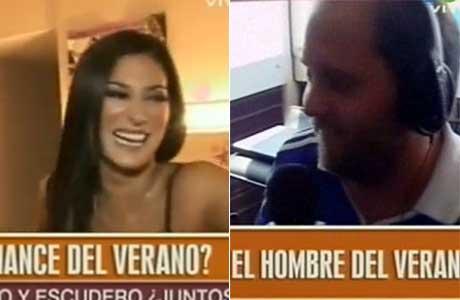 El incómodo momento de Cayetano, en duplex por radio y televisión: qué dijo de Silvina Escudero