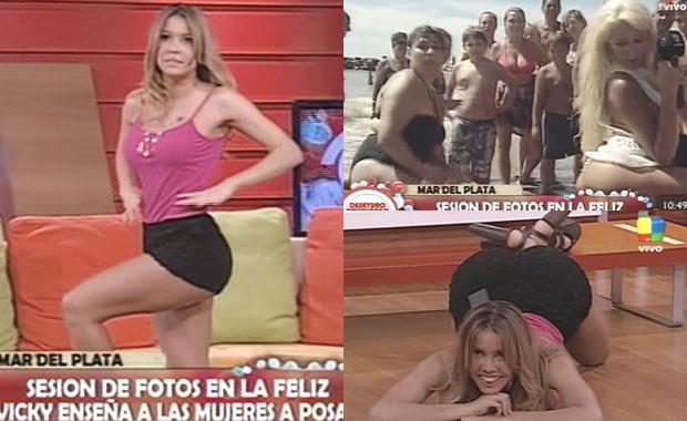 Video: Dallys Ferreira y Vicky Xipolitakis enseñaron cómo posar para una foto hot