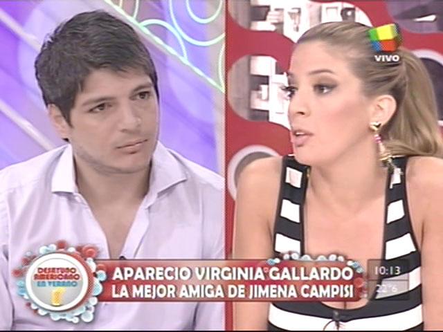 Virginia Gallardo se enfrentó con Tomás Costantini