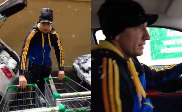 Wanda Nara y Maxi López, de compras bajo la nieve: ¡mirá el video!