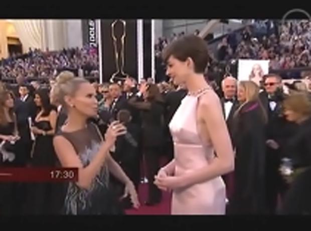 """La perlita """"hot"""" del vestido de Anne Hathaway que provocó furor en Twitter"""