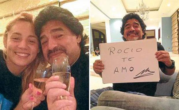 La nueva novia de Diego Maradona, ¿embarazada?